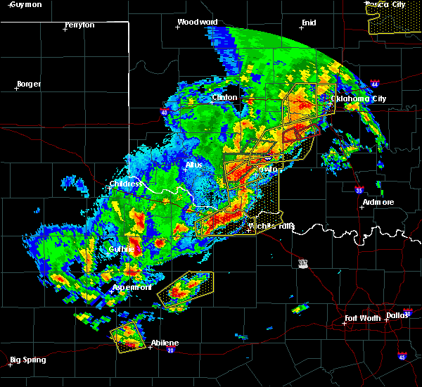 Radar Image for Severe Thunderstorms near Central High, OK at 10/21/2017 8:03 PM CDT