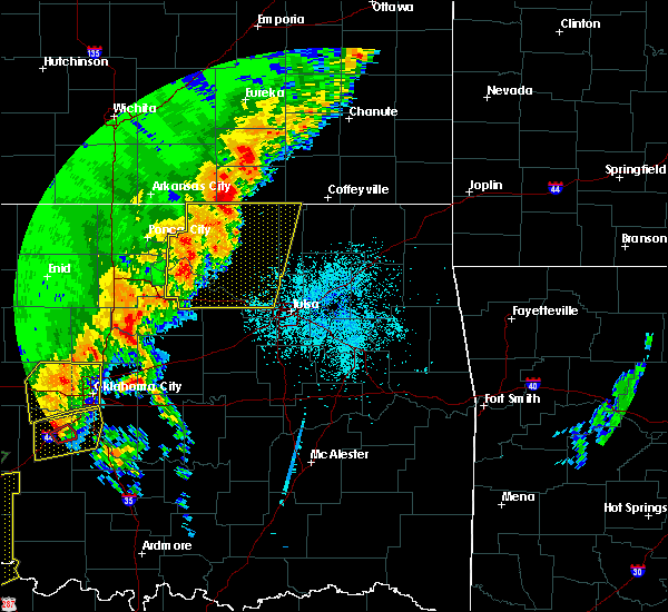 Radar Image for Severe Thunderstorms near Prue, OK at 10/21/2017 8:18 PM CDT