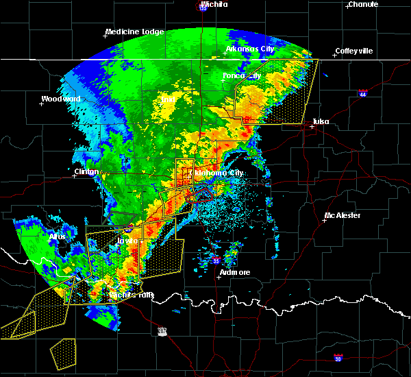 Radar Image for Severe Thunderstorms near Woodlawn Park, OK at 10/21/2017 8:52 PM CDT