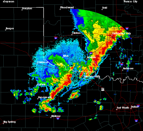 Radar Image for Severe Thunderstorms near Iowa Park, TX at 10/21/2017 9:01 PM CDT