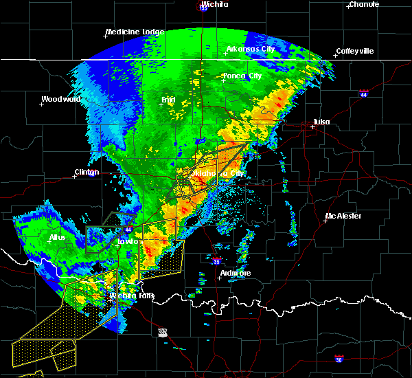 Radar Image for Severe Thunderstorms near Oklahoma City, OK at 10/21/2017 9:10 PM CDT