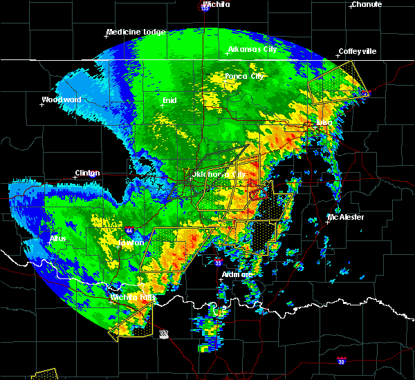 Radar Image for Severe Thunderstorms near Seminole, OK at 10/21/2017 10:05 PM CDT