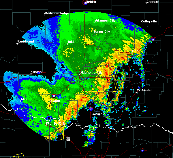 Radar Image for Severe Thunderstorms near IXL, OK at 10/21/2017 10:11 PM CDT