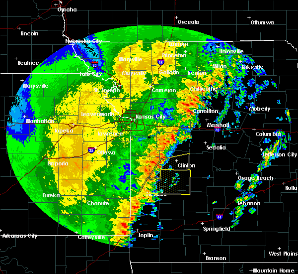 Radar Image for Severe Thunderstorms near Roscoe, MO at 10/21/2017 10:48 PM CDT