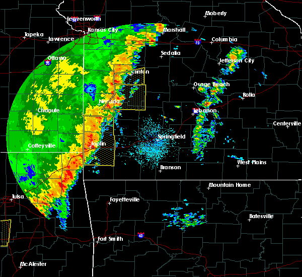 Radar Image for Severe Thunderstorms near Neck City, MO at 10/21/2017 11:06 PM CDT