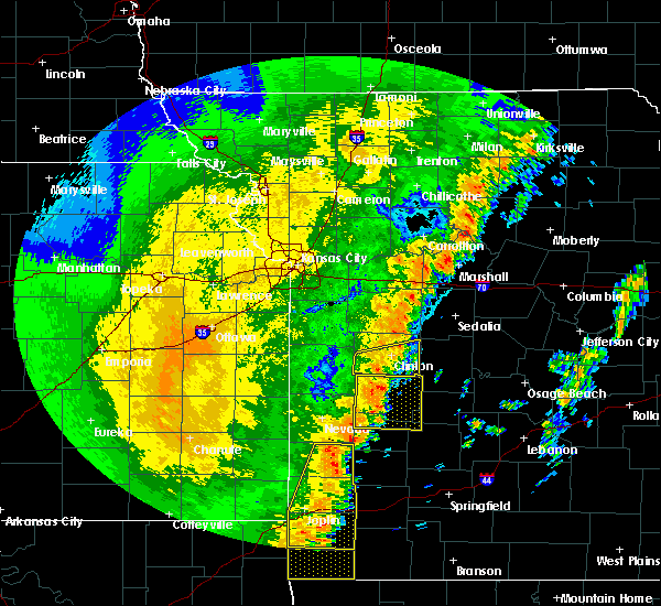 Radar Image for Severe Thunderstorms near La Due, MO at 10/21/2017 11:25 PM CDT