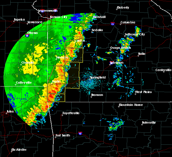 Radar Image for Severe Thunderstorms near Joplin, MO at 10/21/2017 11:37 PM CDT