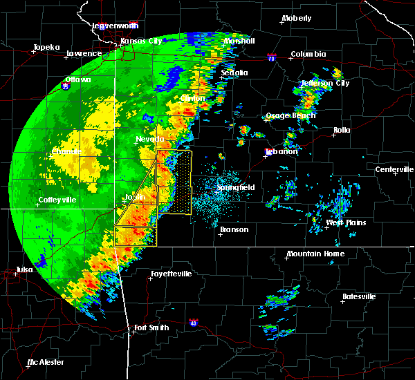 Radar Image for Severe Thunderstorms near Anderson, MO at 10/21/2017 11:49 PM CDT