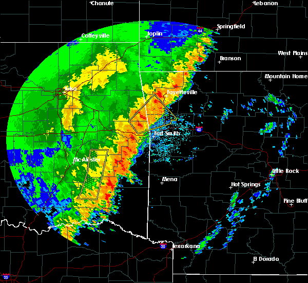 Radar Image for Severe Thunderstorms near Long, OK at 10/22/2017 12:46 AM CDT
