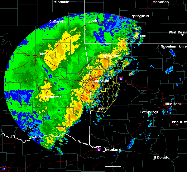 Radar Image for Severe Thunderstorms near St. Paul, AR at 10/22/2017 1:13 AM CDT