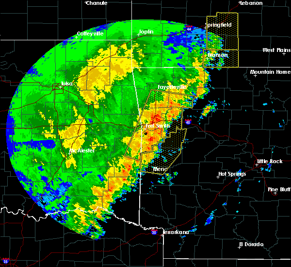 Radar Image for Severe Thunderstorms near St. Paul, AR at 10/22/2017 1:32 AM CDT