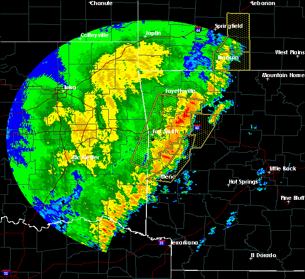 Radar Image for Severe Thunderstorms near St. Paul, AR at 10/22/2017 1:47 AM CDT