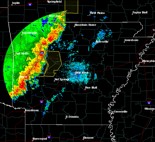 Radar Image for Severe Thunderstorms near Ola, AR at 10/22/2017 2:20 AM CDT