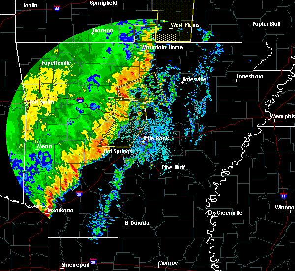 Radar Image for Severe Thunderstorms near Dennard, AR at 10/22/2017 3:15 AM CDT