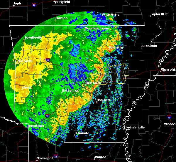 Radar Image for Severe Thunderstorms near Georgetown, AR at 10/22/2017 4:36 AM CDT