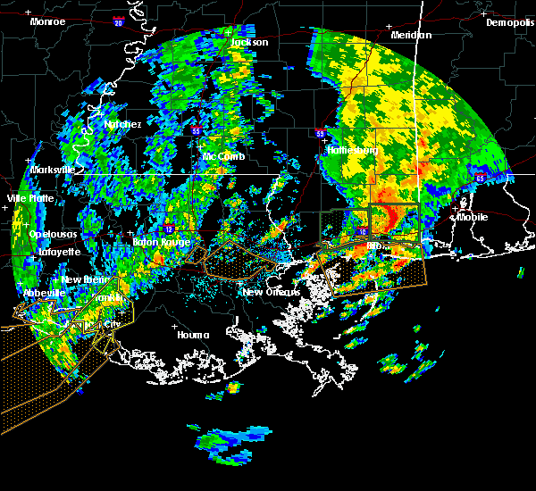 Radar Image for Severe Thunderstorms near Patterson, LA at 10/22/2017 11:05 AM CDT