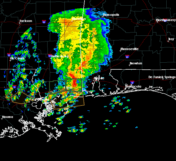 Radar Image for Severe Thunderstorms near Wade, MS at 10/22/2017 11:22 AM CDT
