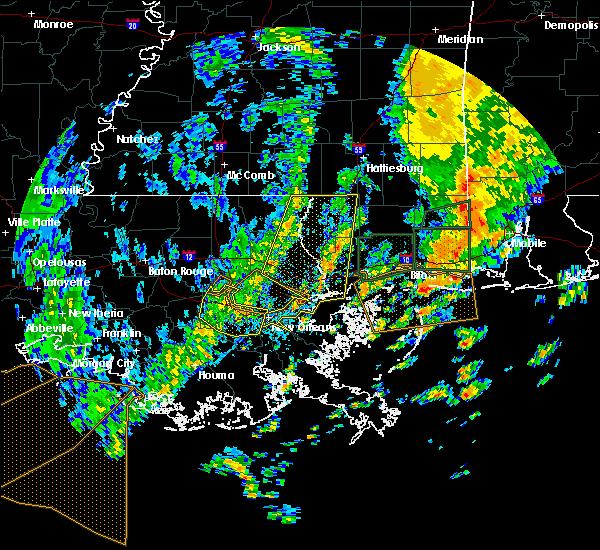 Radar Image for Severe Thunderstorms near Gretna, LA at 10/22/2017 12:00 PM CDT