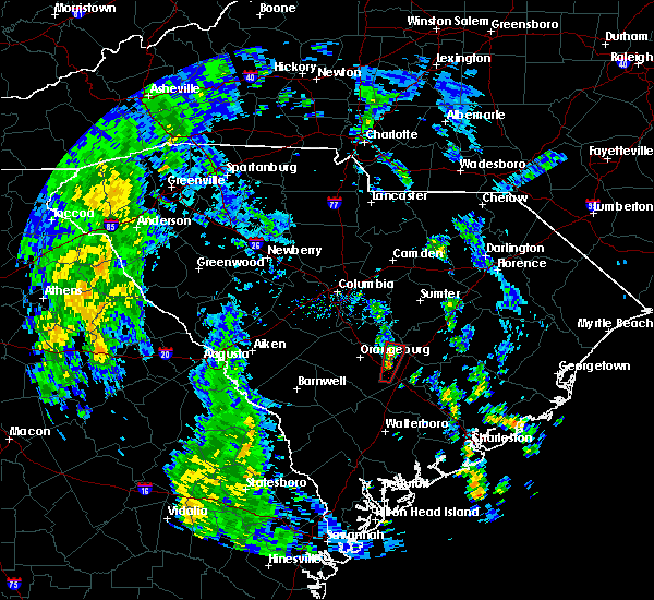 Radar Image for Severe Thunderstorms near Elloree, SC at 10/23/2017 1:01 PM EDT
