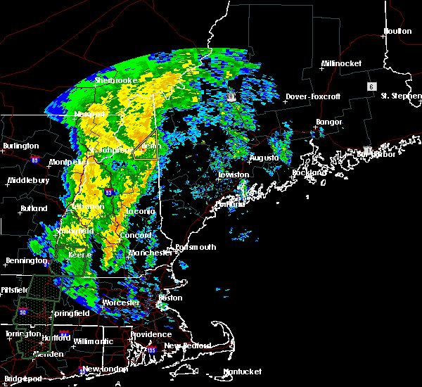 Radar Image for Severe Thunderstorms near Berlin, NH at 10/25/2017 1:16 AM EDT