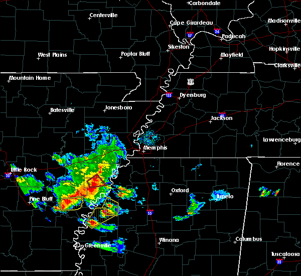 Radar Image for Severe Thunderstorms near Clarksdale, MS at 11/3/2017 5:47 PM CDT