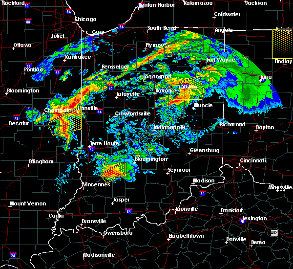 Radar Image for Severe Thunderstorms near Frankton, IN at 11/5/2017 1:57 PM EDT