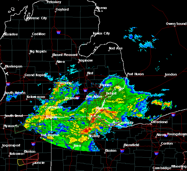 Radar Image for Severe Thunderstorms near Custar, OH at 11/5/2017 2:21 PM EDT