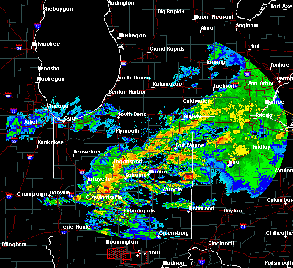 Radar Image for Severe Thunderstorms near Coldwater, OH at 11/5/2017 3:12 PM EDT