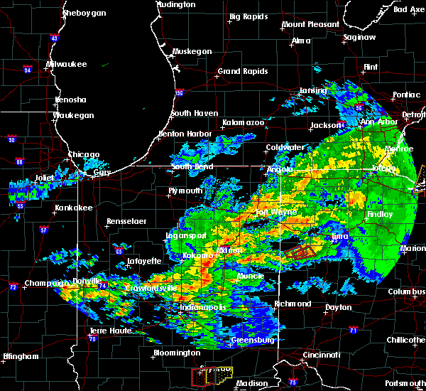 Radar Image for Severe Thunderstorms near Celina, OH at 11/5/2017 3:46 PM EDT