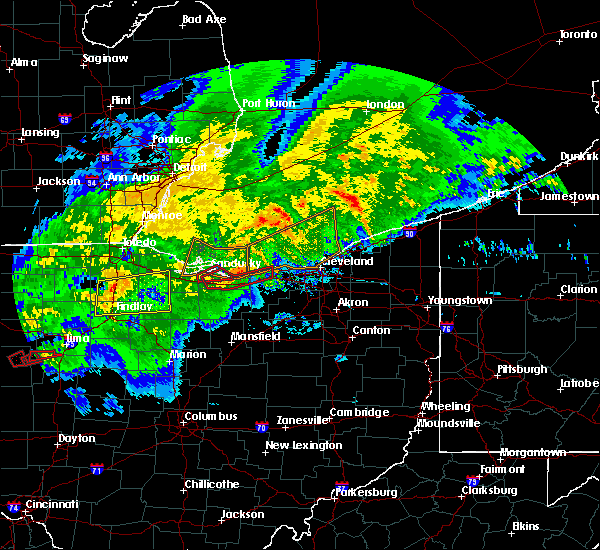 Radar Image for Severe Thunderstorms near McComb, OH at 11/5/2017 3:58 PM EDT