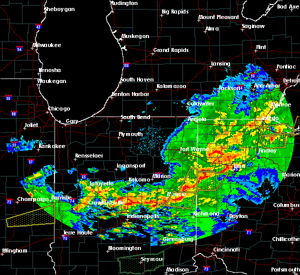 Radar Image for Severe Thunderstorms near Celina, OH at 11/5/2017 4:38 PM EDT