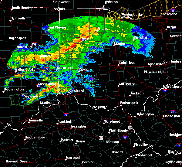 Radar Image for Severe Thunderstorms near Burkettsville, OH at 11/5/2017 4:56 PM EDT