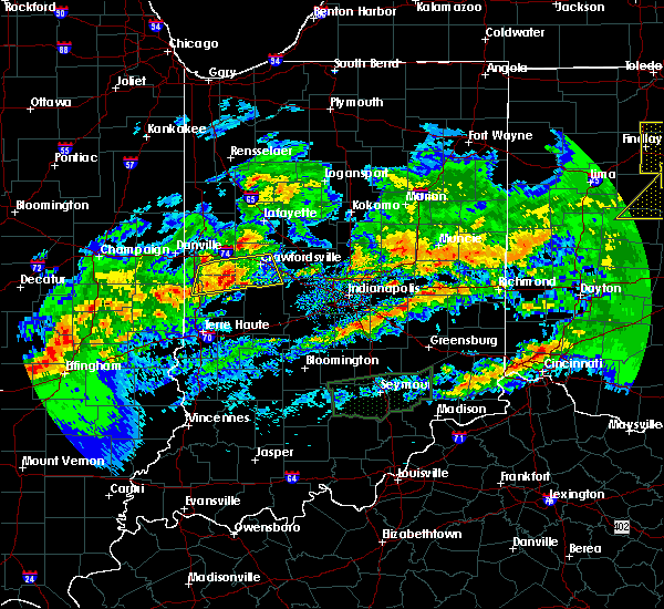 Radar Image for Severe Thunderstorms near Marshall, IN at 11/5/2017 5:36 PM EDT