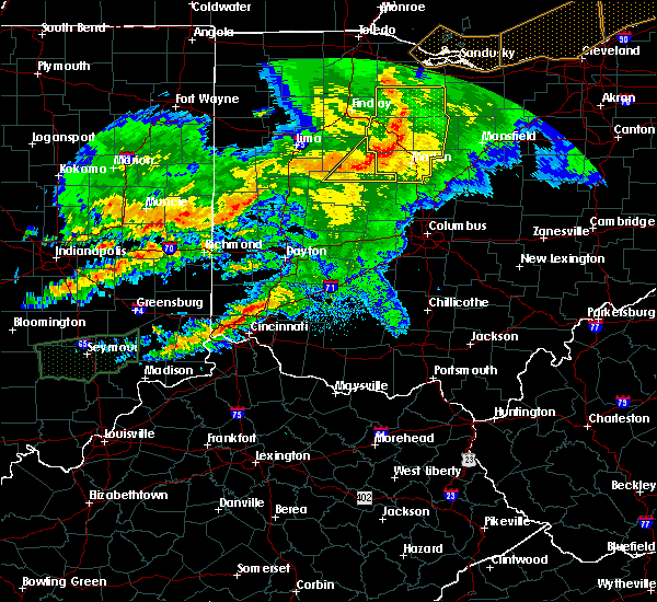 Radar Image for Severe Thunderstorms near Ridgeway, OH at 11/5/2017 5:39 PM EDT