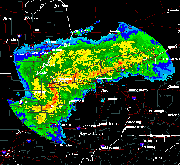 Radar Image for Severe Thunderstorms near Lucas, OH at 11/5/2017 5:54 PM EDT