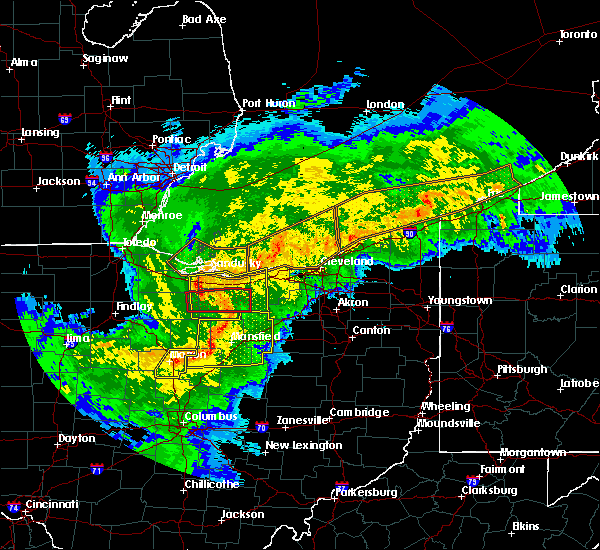 Radar Image for Severe Thunderstorms near Waldo, OH at 11/5/2017 6:09 PM EDT