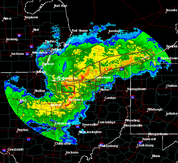 Radar Image for Severe Thunderstorms near Lucas, OH at 11/5/2017 6:21 PM EDT