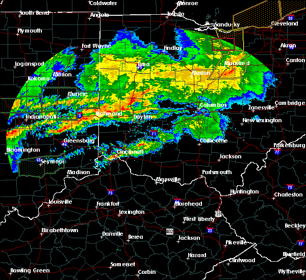 Radar Image for Severe Thunderstorms near Fletcher, OH at 11/5/2017 6:27 PM EDT