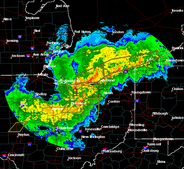Radar Image for Severe Thunderstorms near Lucas, OH at 11/5/2017 6:36 PM EDT