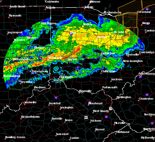 Radar Image for Severe Thunderstorms near Springfield, OH at 11/5/2017 6:46 PM EDT