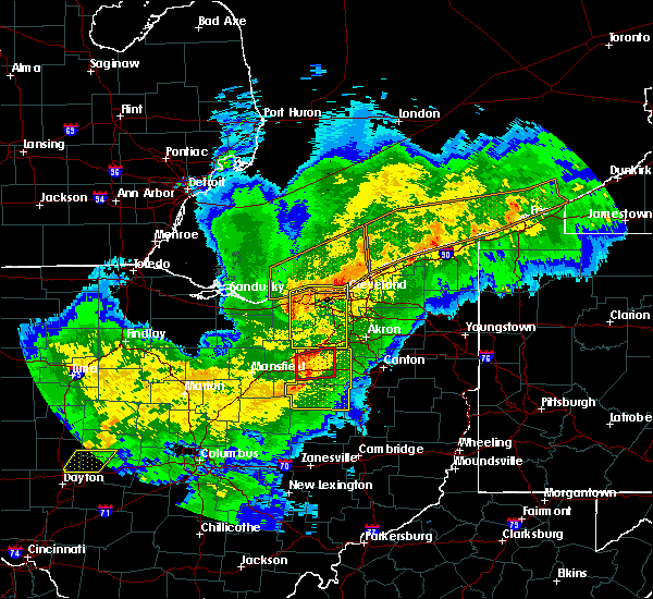 Radar Image for Severe Thunderstorms near Sterling, OH at 11/5/2017 6:48 PM EDT