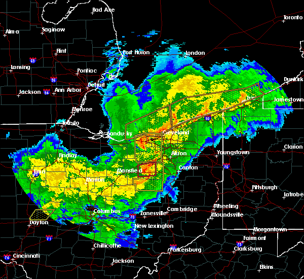 Radar Image for Severe Thunderstorms near North Randall, OH at 11/5/2017 6:55 PM EDT