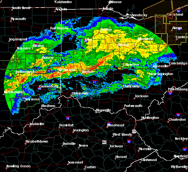 Radar Image for Severe Thunderstorms near Springfield, OH at 11/5/2017 7:08 PM EDT