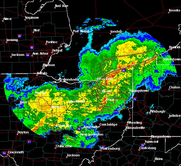 Radar Image for Severe Thunderstorms near Massillon, OH at 11/5/2017 7:19 PM EDT