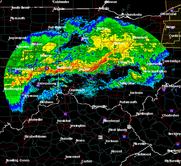 Radar Image for Severe Thunderstorms near Lafayette, OH at 11/5/2017 7:26 PM EDT