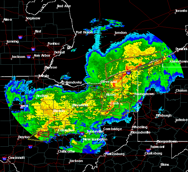 Radar Image for Severe Thunderstorms near Massillon, OH at 11/5/2017 7:25 PM EDT