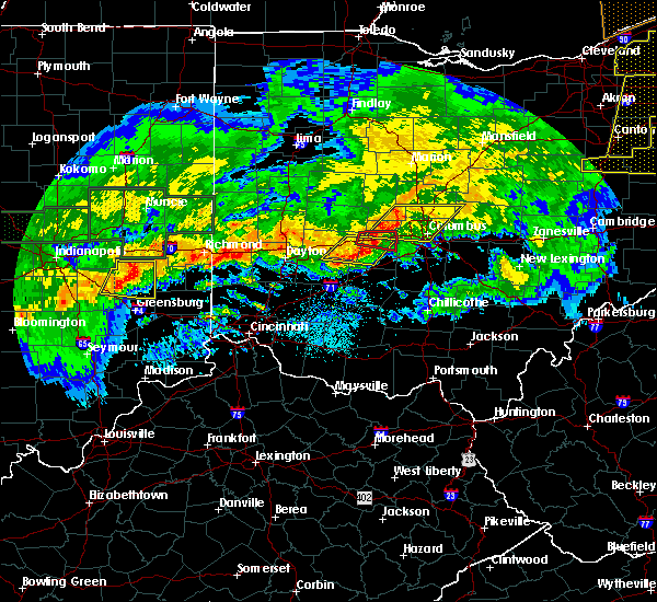 Radar Image for Severe Thunderstorms near South Vienna, OH at 11/5/2017 7:38 PM EDT