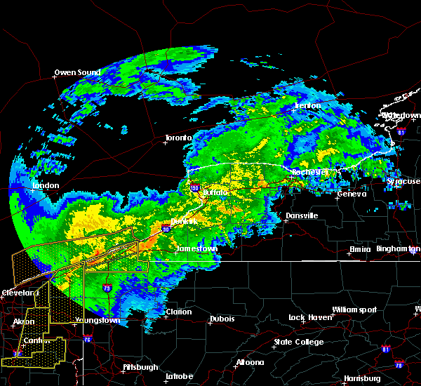 Radar Image for Severe Thunderstorms near Chautauqua, NY at 11/5/2017 7:44 PM EDT