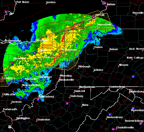 Radar Image for Severe Thunderstorms near Rogers, OH at 11/5/2017 7:59 PM EDT