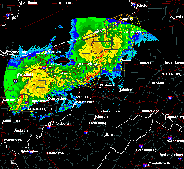 Radar Image for Severe Thunderstorms near Kittanning, PA at 11/5/2017 7:42 PM EST
